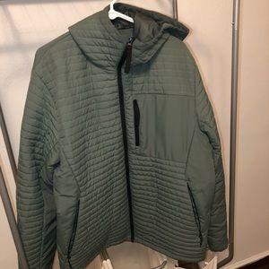 H&M — Sage Green Puffer Sport Joggers Jacket